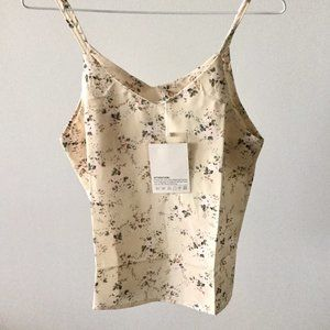 Pale Yellow Floral Camisole